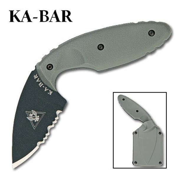 KA-BAR TDI Law Enforcement Knife  - Foliage Green - 1477FG