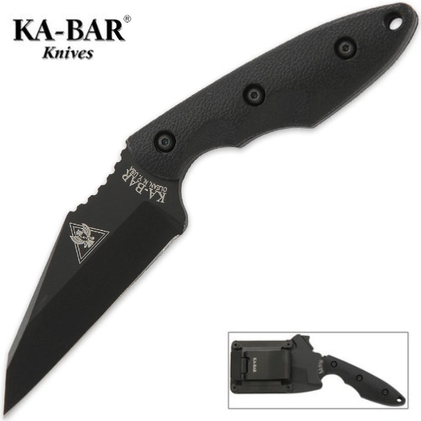 "KA-BAR TDI Hinderer Hinderance 3.5"" Fixed Blade Knife with GFN Sheath 2485"