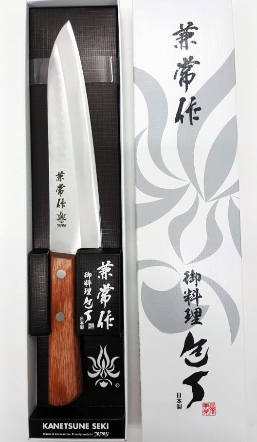 "Kanetsune 510 Kengata 7.08"" Takefu Shiro-2/SUS410 San-Mai Kitchen Knife - Made in Japan KC352"