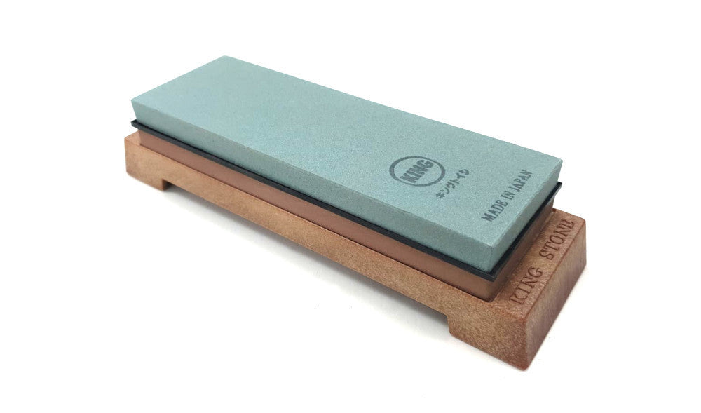 KING KG-65 220/1000 Grit Combination Japanese Whetstone Knife Sharpener with Base