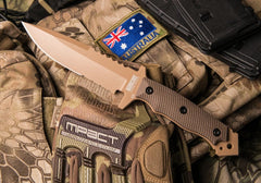 Hardcore Hardware Australia MFK-04 GEN II Desert Tan Fixed Blade Knife with Kydex Sheath