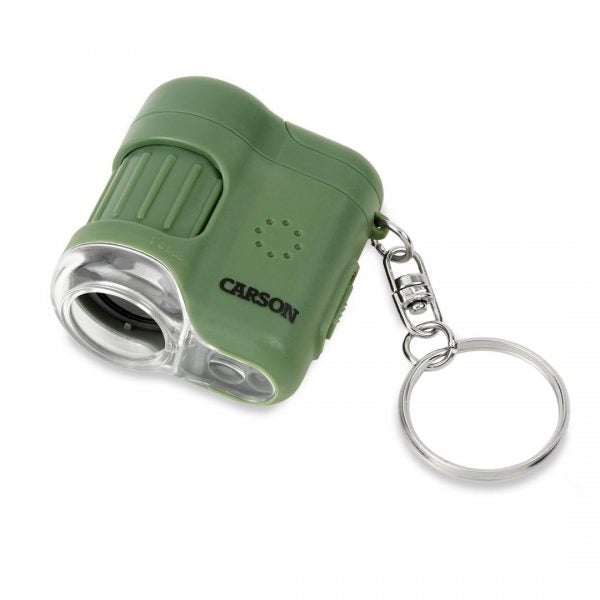 Carson MicroMini 20x Pocket Microscope with LED Flashlight and UV Light - Green MM280G