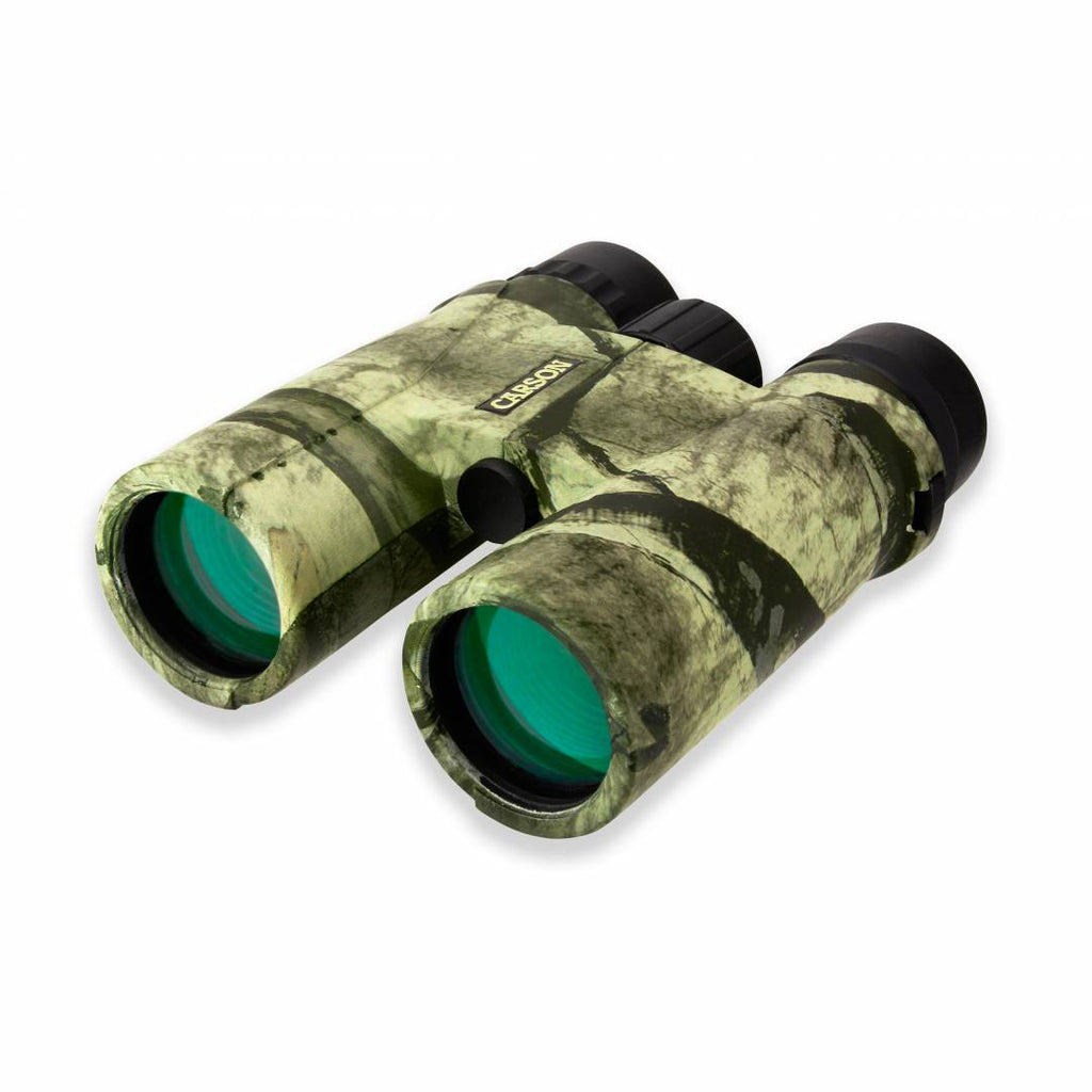 Carson Caribou 10x42 Mossy Oak Camo Waterproof Binoculars with Case MO-042