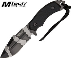 "Mtech 4.25"" Urban Camo Sawback Fixed Blade Knife MT-20-18 DUC"