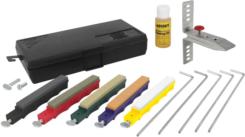 Lansky Deluxe 5-Stone Controlled-Angle Sharpening System LKCLX