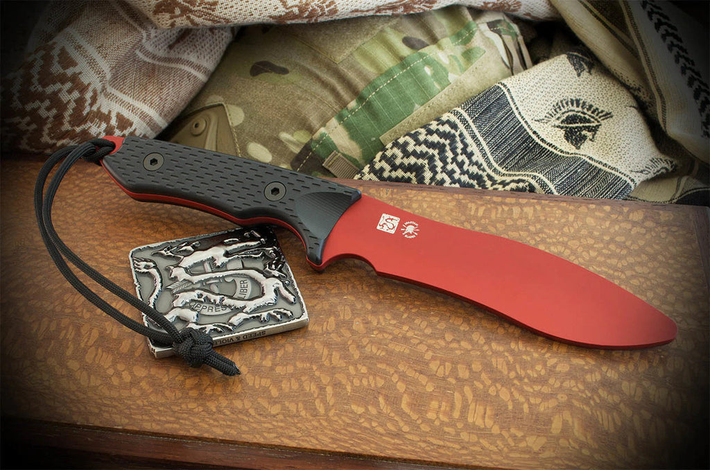 "Spartan Blades Ronin Shinto Trainer 5.5"" Aluminum Red Training Knife"