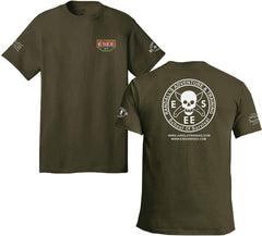ESEE Fatigue Green T-Shirt with Camp-Lore and Izula Logos - Small