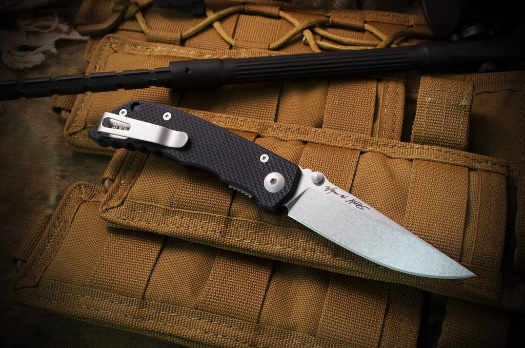 "Spartan Blades Talos 3.12"" CTS-XHP Black G10 Folding Knife - Harsey Design"