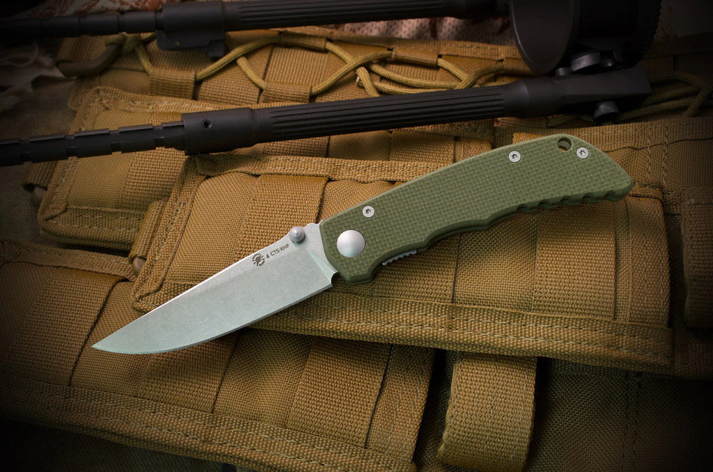 "Spartan Blades Talos 3.12"" CTS-XHP Green G10 Folding Knife - Harsey Design"