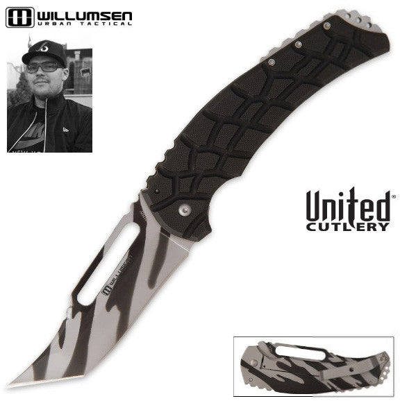 United Willumsen Urban Tactical Blondie Large Framelock Pocket Knife Camo UC2871