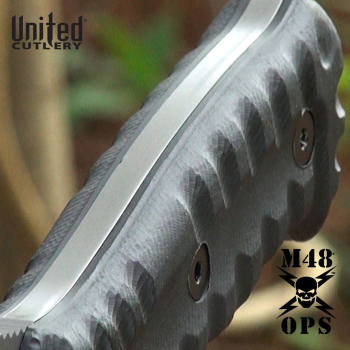 United Cutlery M48 Ops Combat Bowie Fixed Blade Knife with MOLLE Sheath UC3024