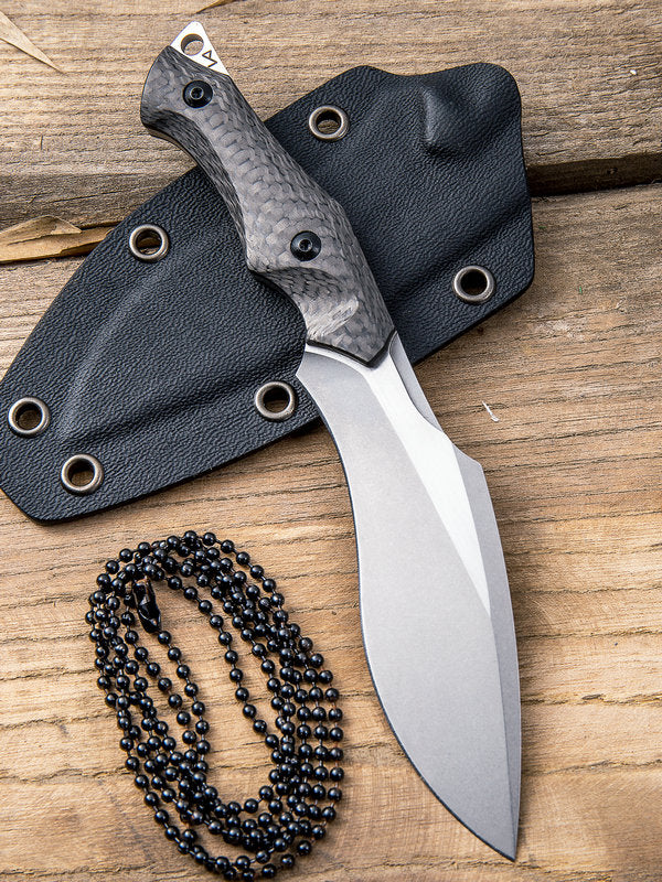 "WE Knife Vaquita 3.25"" CPM S35VN Mini Kukri Neck Knife with Carbon Fiber Handle 807A"
