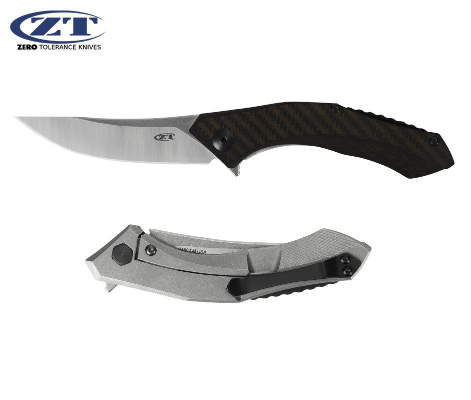 "Zero Tolerance 0460 Sinkevich 3.25"" S35VN Carbon Fiber Titanium Folding Knife"
