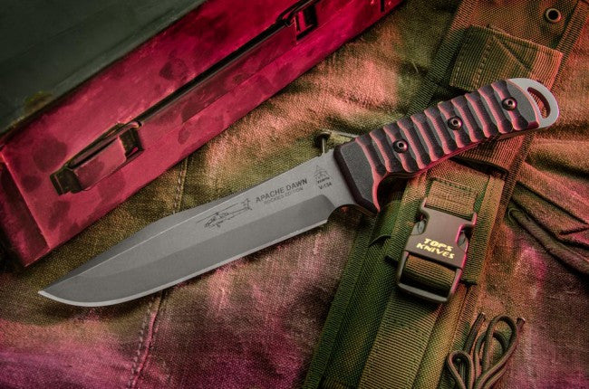 "TOPS Knives Apache Dawn Rockies Edition 6.75"" Fixed Blade Knife APAD-02"