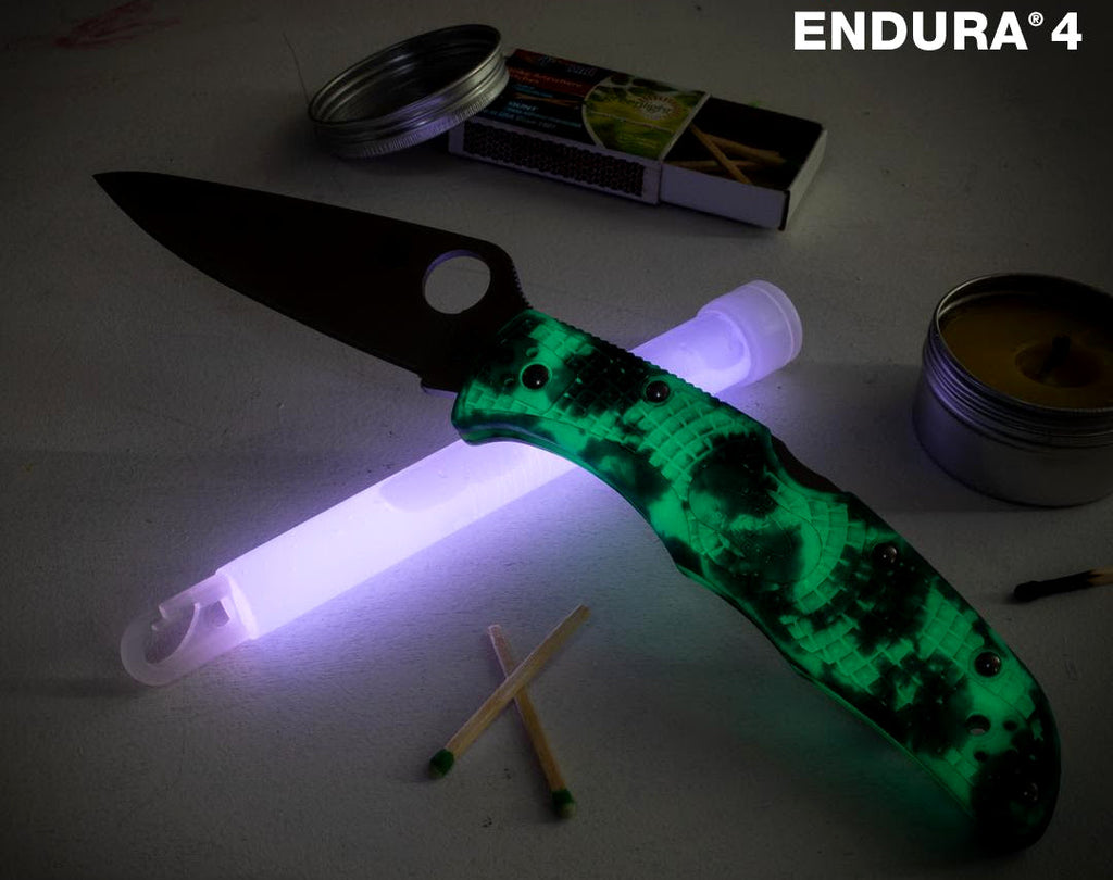 Spyderco Endura 4 Exclusive VG-10 Black DLC Glow-In-The-Dark Zome Folding Knife C10ZFPGITDBK