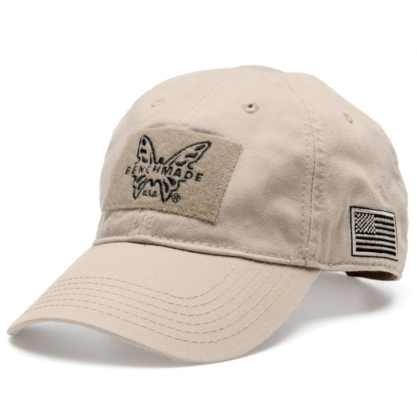 Benchmade Desert Tan Tactical Hat with Velcro Patch