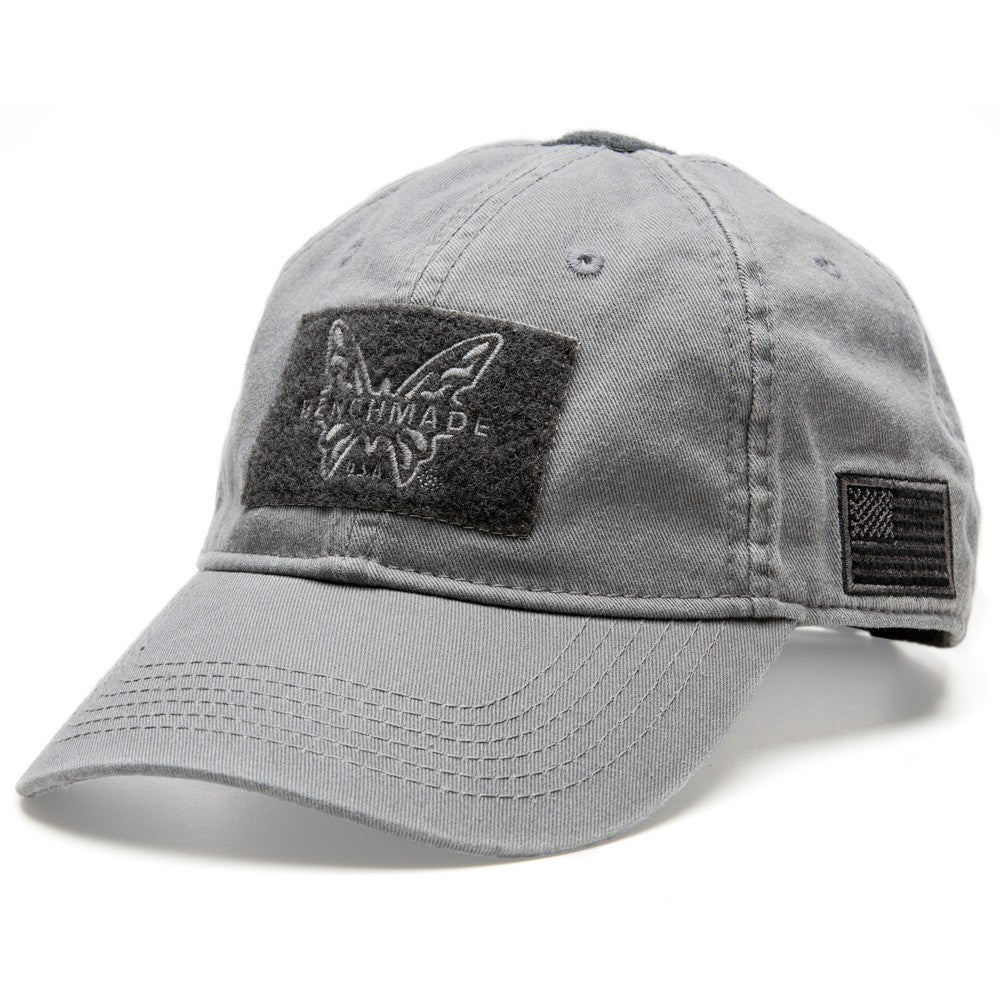 Benchmade Gray Tactical Hat with Velcro Patch