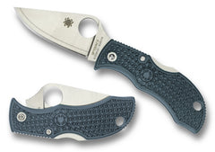 "Spyderco Manbug Sprint Run 1.875"" V-Toku2/SUS410 Blue-Gray Folding Knife MBBLPE"