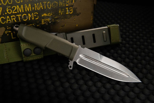 "Extrema Ratio Contact C Ranger Green 4.33"" N690 Fixed Blade Knife with MOLLE Sheath"