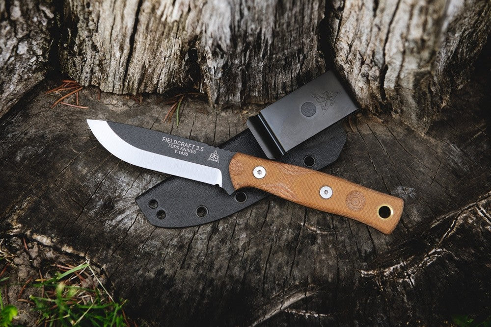 "TOPS Knives Fieldcraft 3.5 ""Mini Bros"" Fixed Blade Knife with Kydex Sheath MBROS-01"