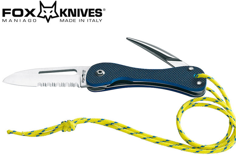 Fox Knives Sailing Knife 440C G-10 Marlin Spike and Shackle Slot