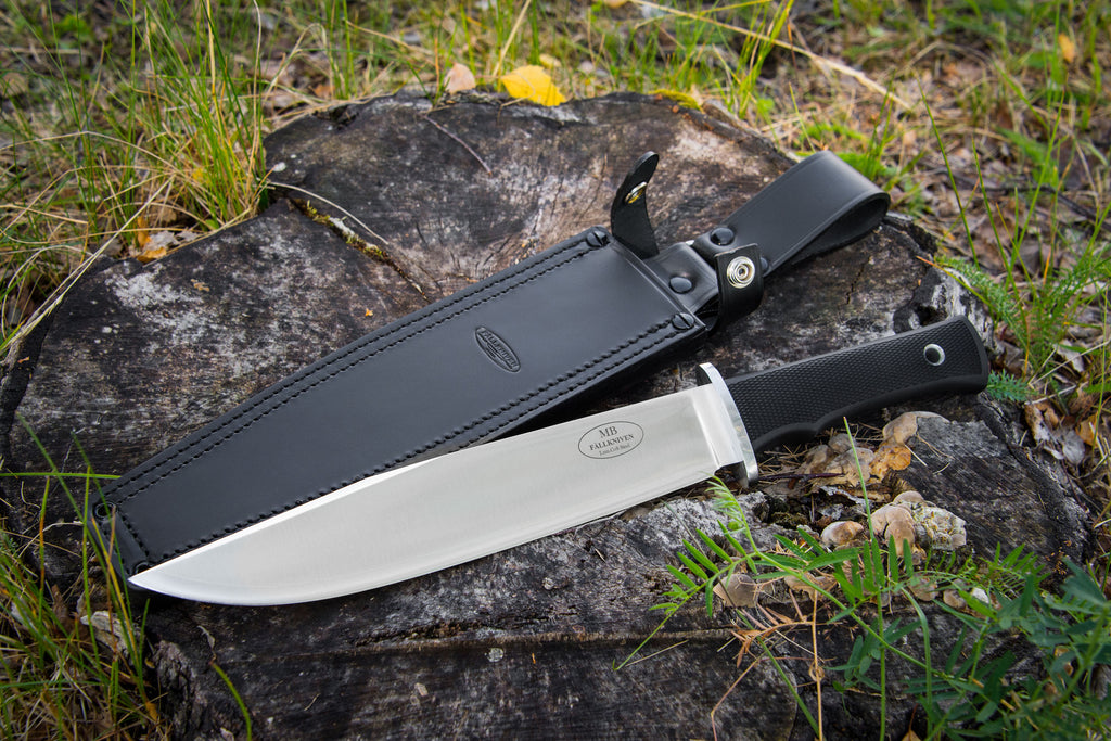 Fallkniven MB Modern Bowie Premium Package Fixed Blade Knife Lam.CoS with Leather Sheath, Waterproof Box, and Whetstone