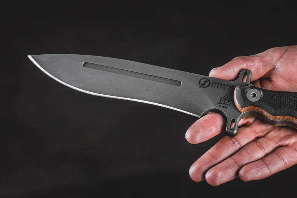 TOPS Operator 7 Fixed Blade Knife with Micarta/G10 Handle OP7-01