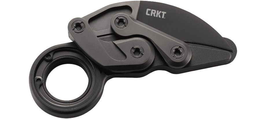 "CRKT Provoke Kinematic 2.41"" D2 Black TiNi Folding Karambit Knife - Joe Caswell Design"