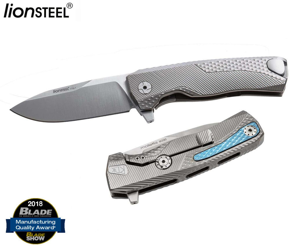 "LionSteel ROK 3.39"" M390 Titanium Hidden Clip Folding Knife ROK G"