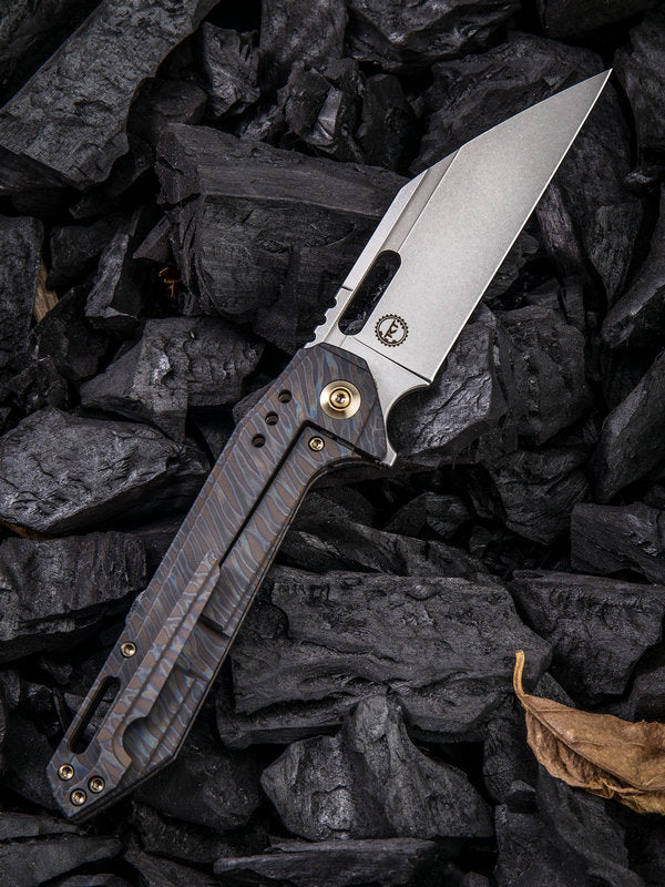 "WE Knife Roxi 4 by Seth and Teryl Todd 3.98"" CPM-S35VN Flamed Titanium Folding Knife 916A"