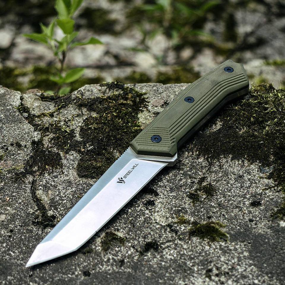 "Steel Will Sentence 131 5.3"" OD Green G10 Tanto Fixed Blade Knife with Kydex Sheath"