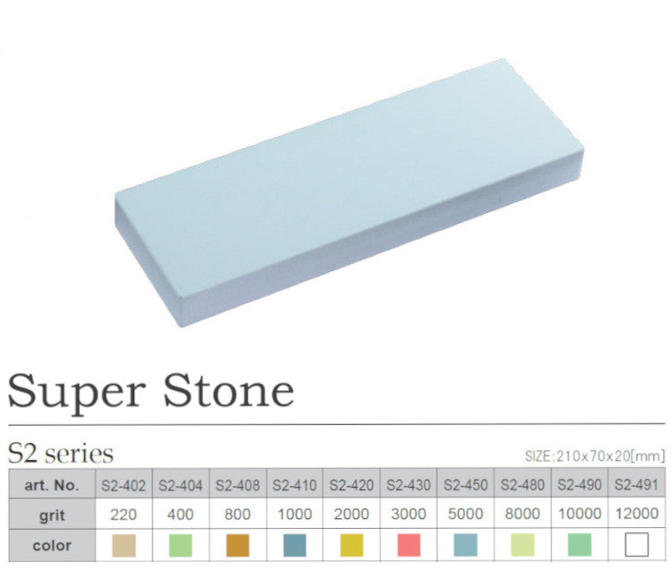 Naniwa S2-402 Super Stone 220 Grit Japanese Whetstone Knife Sharpener