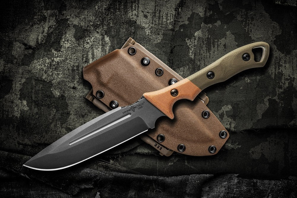 "TOPS Viking Tactics Norseman 5.88"" Fixed Blade Knife with Kydex Sheath VTAC-01"