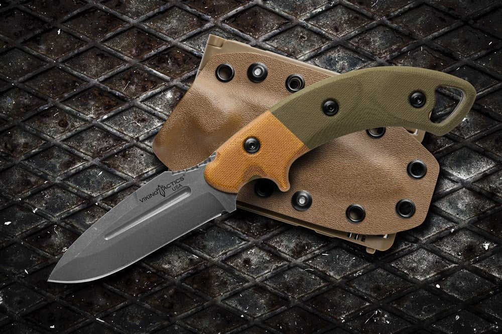 "TOPS Viking Tactics Crusader 3.63"" Fixed Blade Knife with Kydex Sheath VTAC-02"