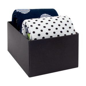 Cotton Sock Gift  Box Double - (2 Pairs)
