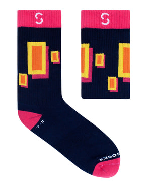 Active Ribbed Socks - Blocks