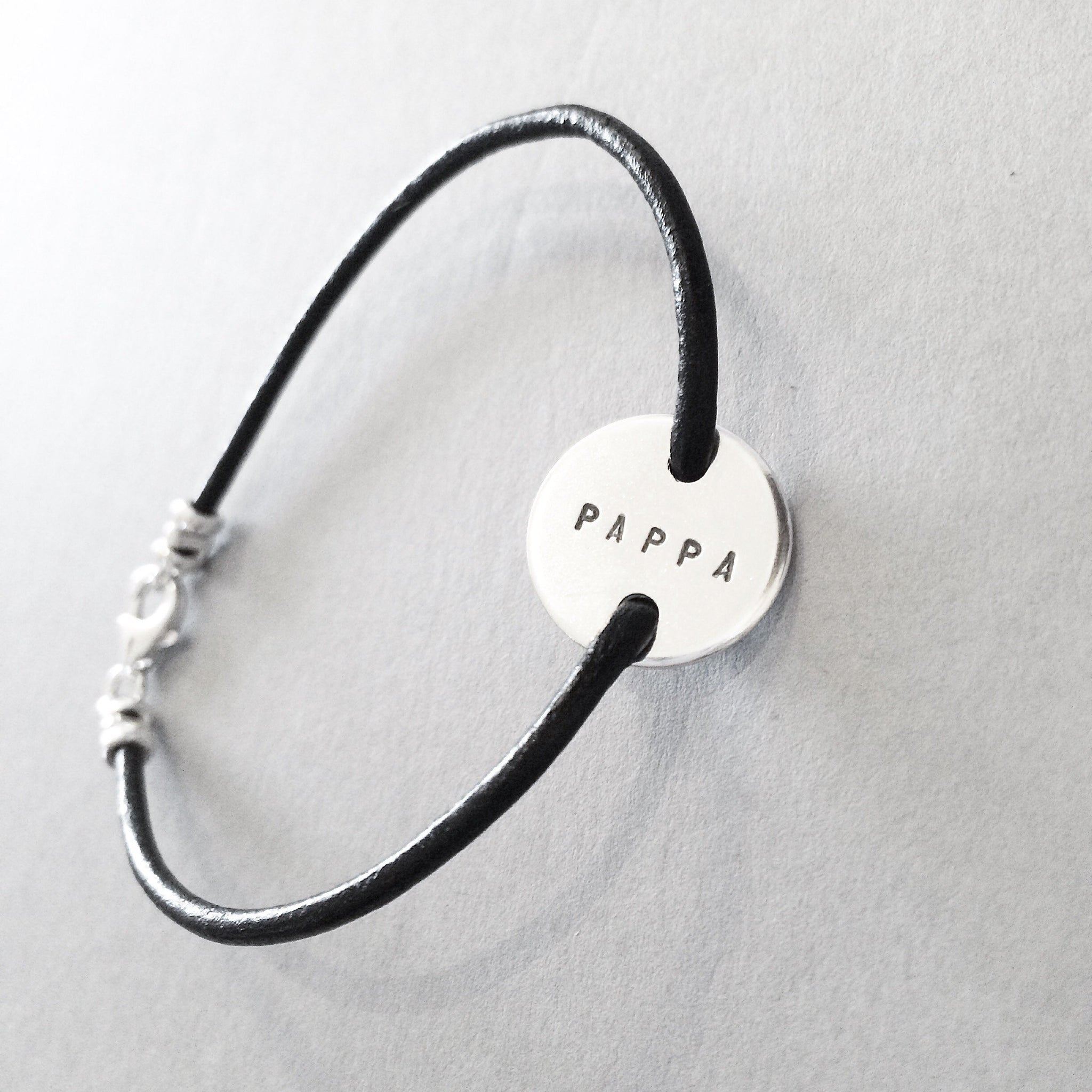 LOVE COIN BRACELET, 16MM LEATHER