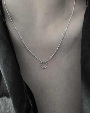 TINY RING NECKLACE