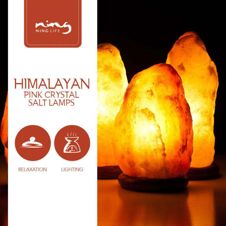 Do Salt Lamps Really Produce Negative Ions : [LOWEST IN MARKET] Himalayan Pink Crystal Salt Lamps (Cylinder) BEST Natural Air Ionizer ...