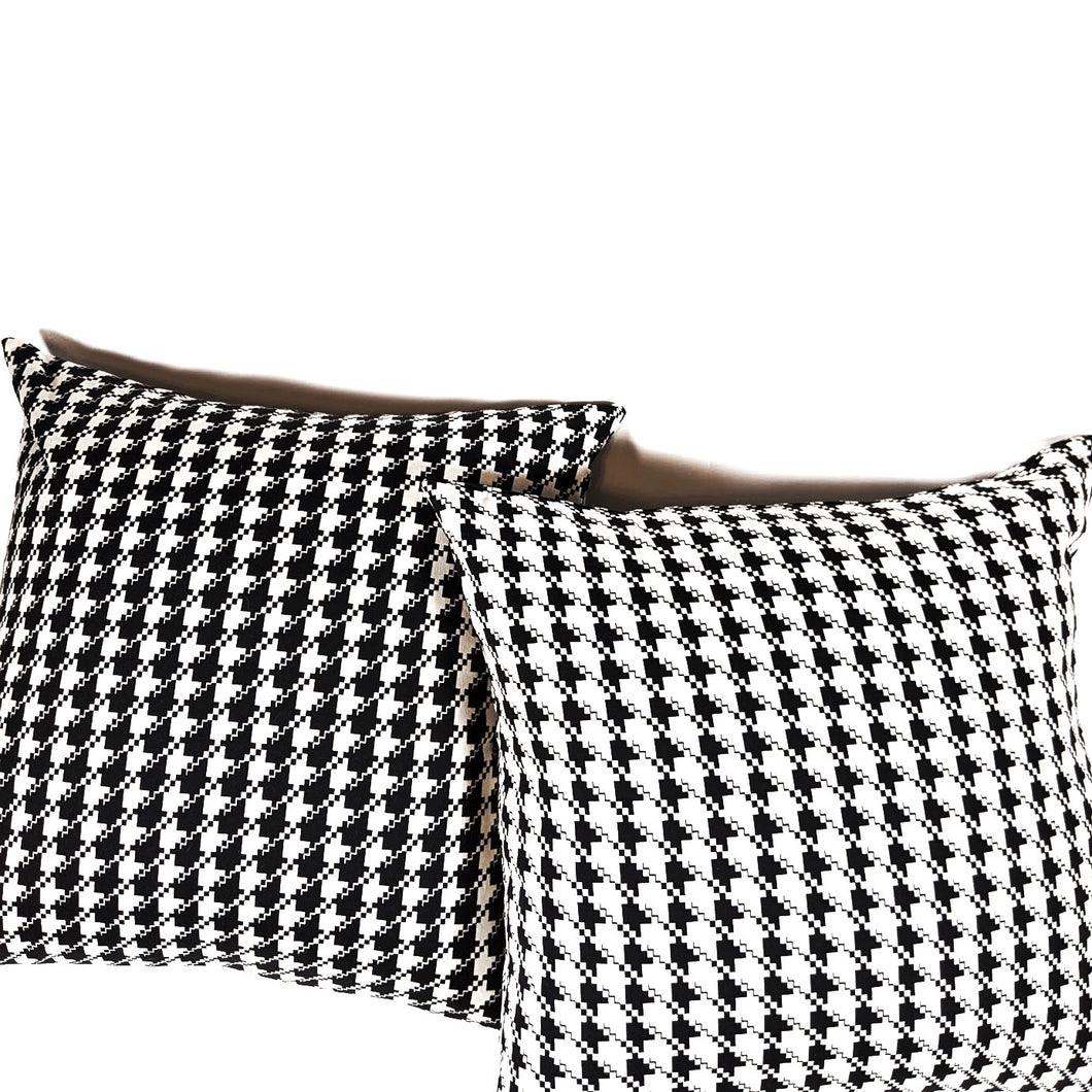 Nina Houndstooth Pillow Cover | Set of 2 |  Limited Quantity Run