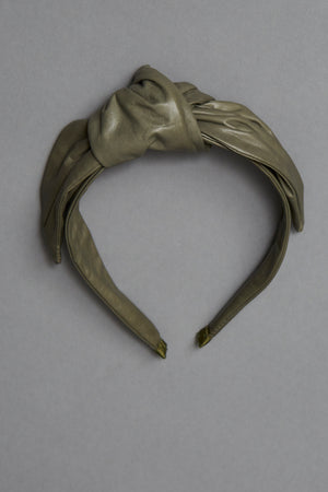 Army Green Leather Headband