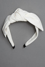 White Leather Headband