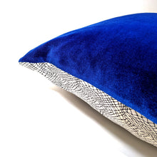 Load image into Gallery viewer, Vhasi Pillow Cover in Cobalt |  Limited Quantity Run