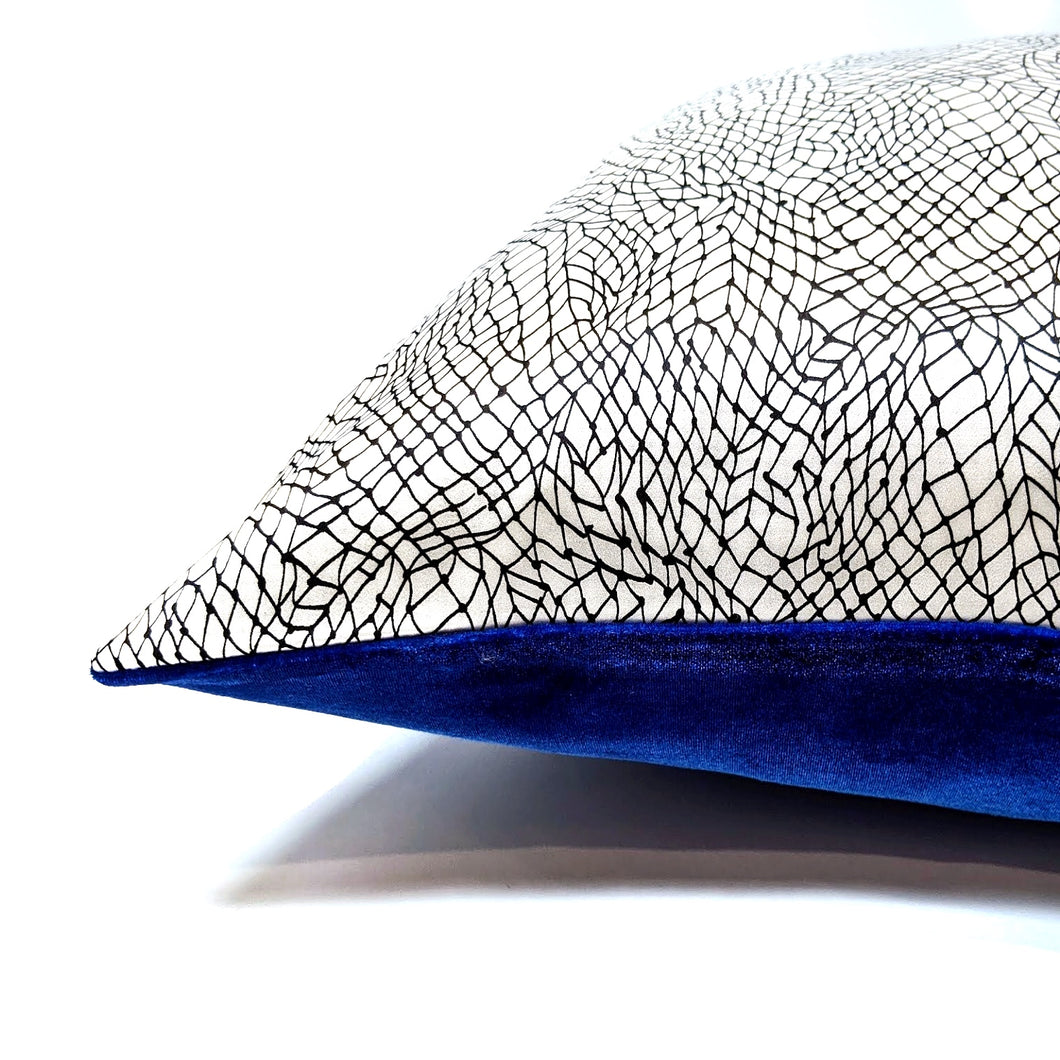 Vhasi Pillow Cover in Cobalt