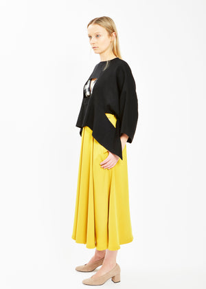 Box Pleat A Line Skirt