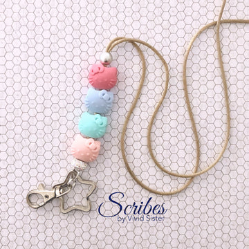 Kittie Pastel Lanyard With Bling
