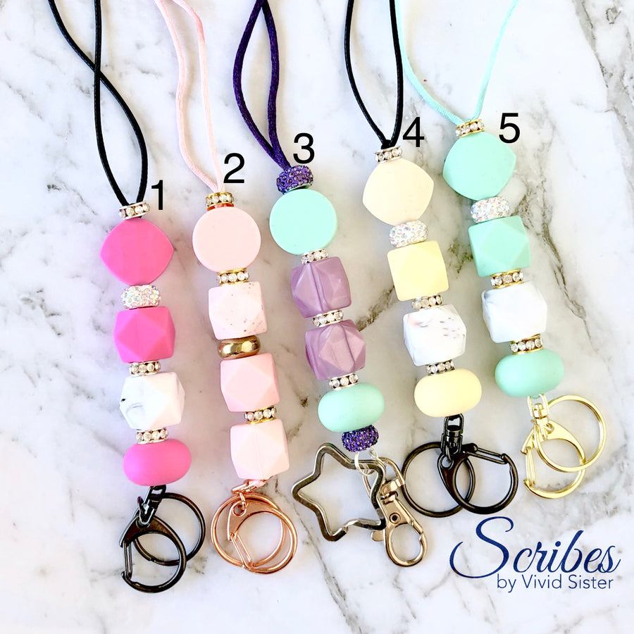 Pastel Lanyards With Bling