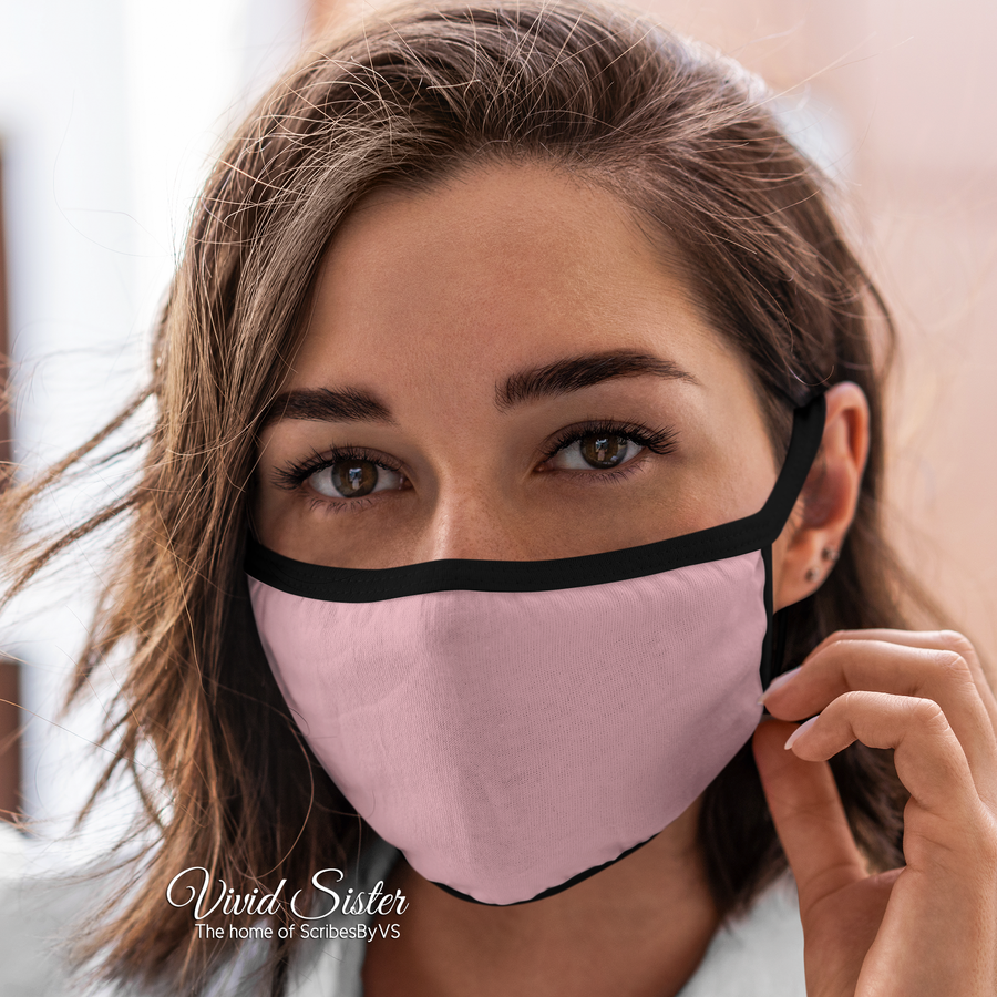 Plain Colour Face Mask Reusable Washable