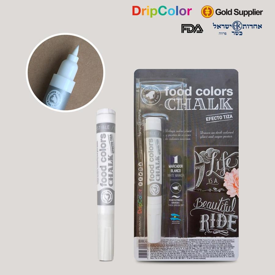 Chalk White Drip Color Edible Food Art Marker