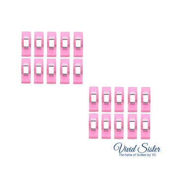 Pink Piping Bag Tip Clips Set of 20